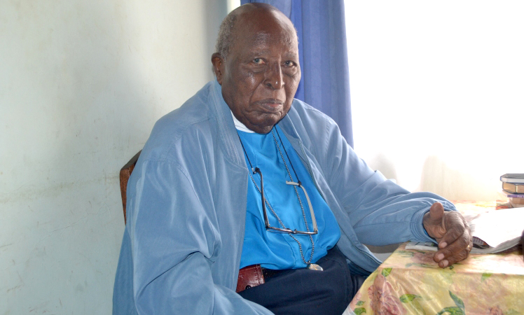 Retired Rev Gatu at his home in Karen, Nairobi in March 2017 Photo/Selestus Mayira